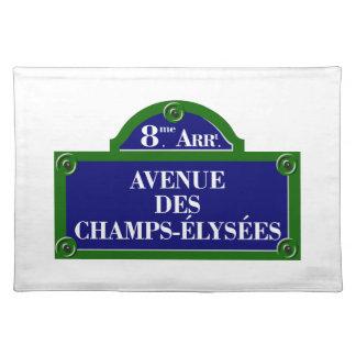 Avenue des Champs-Elysees, Paris Street Sign Placemat