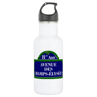 Avenue des Champs-Elysees, Paris Street Sign Stainless Steel Water Bottle