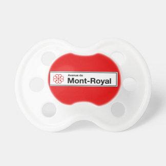 Avenue du Mont-Real, placa de calle de Montreal Chupetes De Bebé