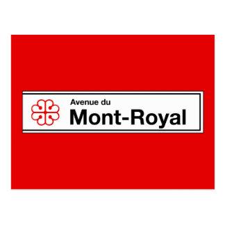 Avenue du Mont-Royal, Montreal Street Sign Postcard