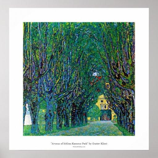 Avenue in schloss kammer park art by Gustav Klimt Poster