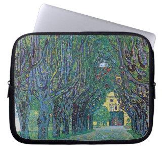 Avenue In Schloss Kammer Park by Gustav Klimt Laptop Sleeve