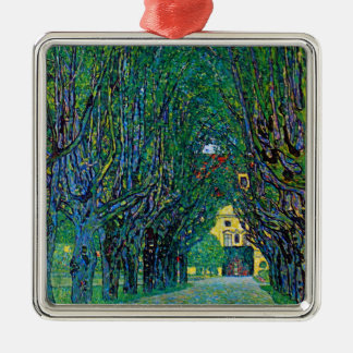 Avenue in Schloss Kammer Park by Gustav Klimt Metal Ornament