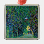 Avenue in Schloss Kammer Park by Gustav Klimt Christmas Ornament