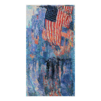 Avenue in the Rain by Childe Hassam, Vintage Art Poster