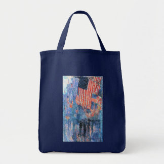 Avenue in the Rain by Childe Hassam, Vintage Art Tote Bag