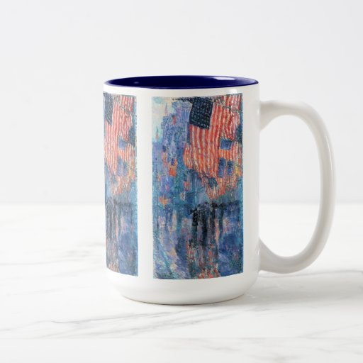 Avenue in the Rain, Hassam, Vintage Impressionism Mug