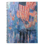 Avenue in the Rain, Hassam, Vintage Impressionism Notebooks