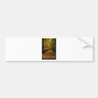 Avenue of leaves Father's Day.jpg Bumper Sticker