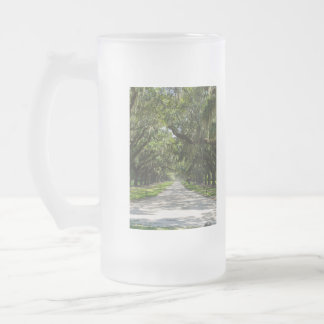 Avenue Of Oaks Frosted Glass Beer Mug