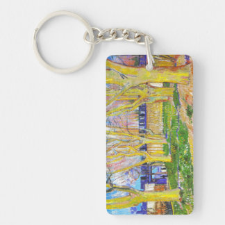 Avenue of Plane Trees near Arles Station by Vincen Keychain