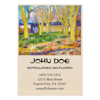 Avenue of Plane Trees near Arles Station by Vincen Large Business Card