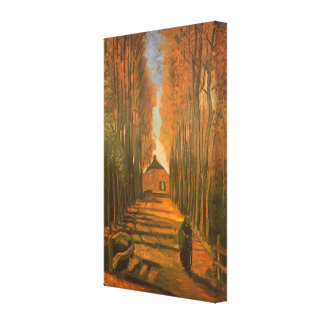 Avenue of Poplars in Autumn by Vincent van Gogh Canvas Print