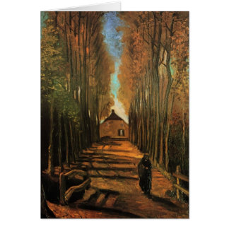 Avenue of Poplars in Autumn by Vincent van Gogh Greeting Cards