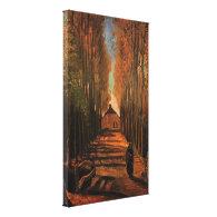 Avenue of Poplars in Autumn, Vincent van Gogh Canvas Prints