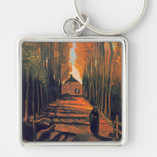 Avenue of Poplars in Autumn, Vincent Van Gogh Key Chain