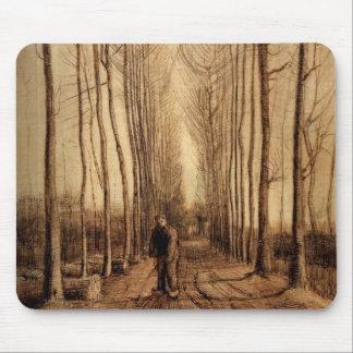 Avenue of Poplars Mouse Pad
