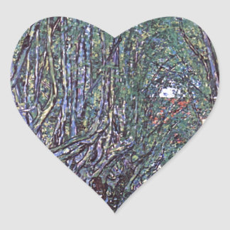 Avenue of Schloss Kammer Park cool Heart Sticker