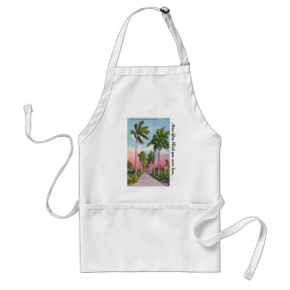 Avenue of Stately Royal Palms in Florida Adult Apron