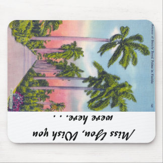 Avenue of Stately Royal Palms in Florida Mouse Pad