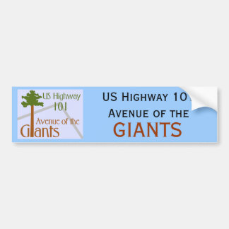 Avenue of the Giants Car Bumper Sticker