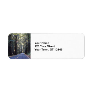 Avenue of the Giants- Humboldt Redwoods State Park Label