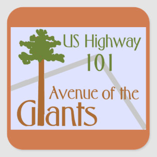 Avenue of the Giants Square Sticker