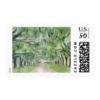 Avenue of the Oaks Boone Hall Stamp