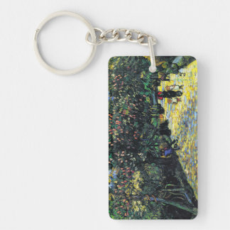 Avenue with Flowering Chestnut Trees at Arles Keychain