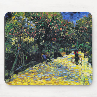 Avenue with Flowering Chestnut Trees at Arles Mouse Pad