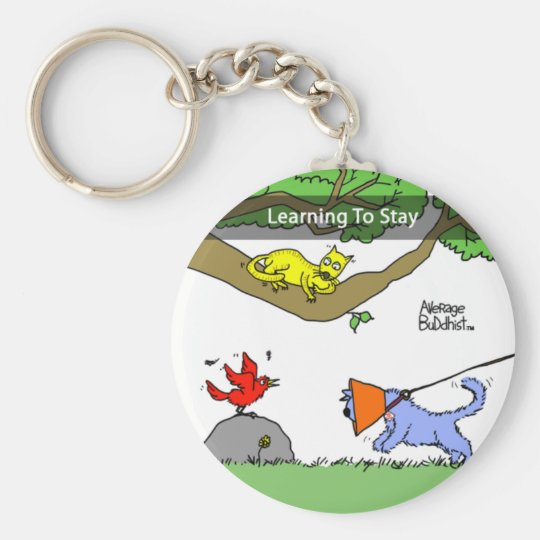 Average Buddhist Keychain - Learning to Stay