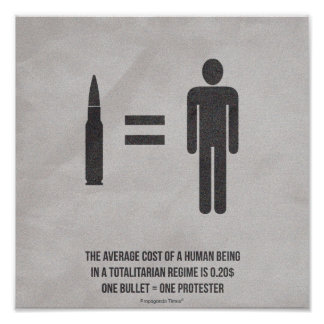 Average Cost of a Human Being Poster