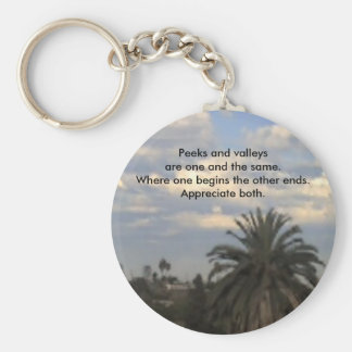 average day in San Diego, Peeks and valleys are... Basic Round Button Keychain