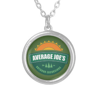 Average Joe's Outdoor Excursions Silver Plated Necklace
