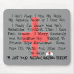 Average Nursing Student Funny Gifts Mouse Pad