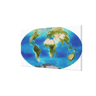 Average plant growth of the Earth Canvas Print