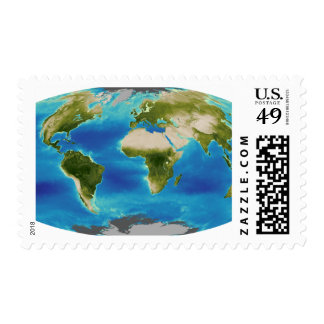 Average plant growth of the Earth Postage Stamp