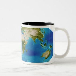 Average plant growth of the Earth Two-Tone Coffee Mug