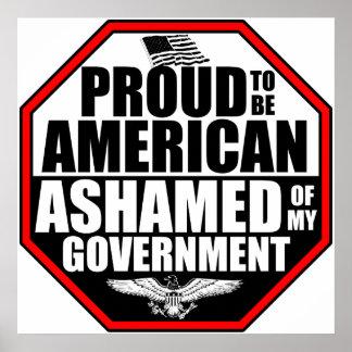 ¡Avergonzado de mi gobierno Posters