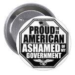 Avergonzado de mi gobierno pin