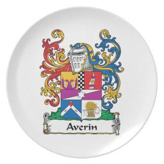 Averin Family Crest Plate