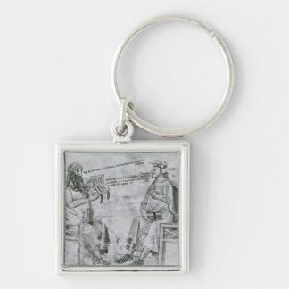 Averroes  in Conversation with Porphyry Key Chain