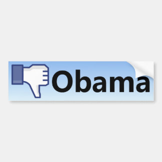 Aversión Obama - Barack Obama anti Etiqueta De Parachoque