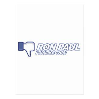 Aversión Ron Paul - voto 2012 del presidente de la Tarjetas Postales