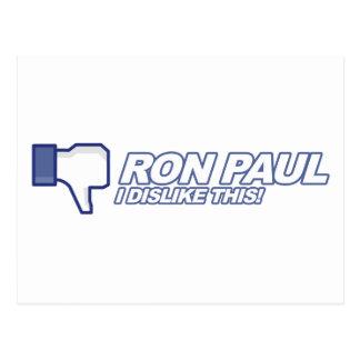 Aversión Ron Paul - voto 2012 del presidente de la Postal