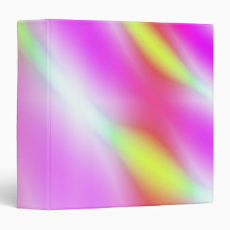 Avery Binder, Abstract Pastels Pink Yellow Red Binder