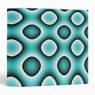 Avery Binder, Abstract Trippy Retro Circles, Blue Binder