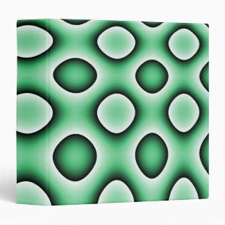 Avery Binder, Abstract Trippy Retro Circles, Green Binder