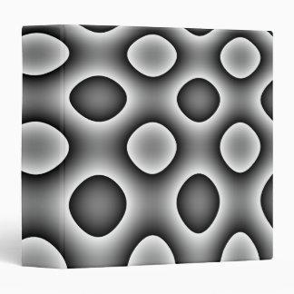 Avery Binder, Abstract Trippy Retro Circles, Grey 3 Ring Binder
