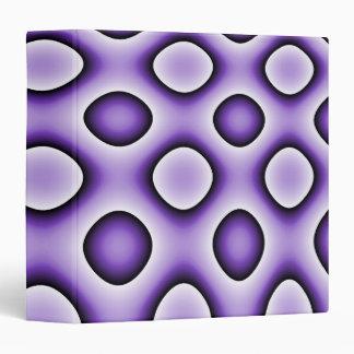 Avery Binder, Abstract Trippy Retro Circles Purple 3 Ring Binder
